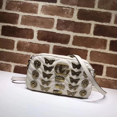 Gucci Leather 447632 butterfly Beige
