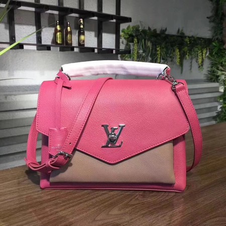 louis vuitton original Leather MY LOCKME 54849 Plum with apricot