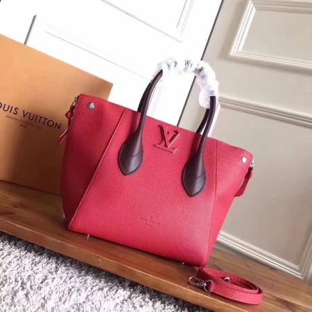 louis vuitton original calfskin Tote Bag freedom M54842 red