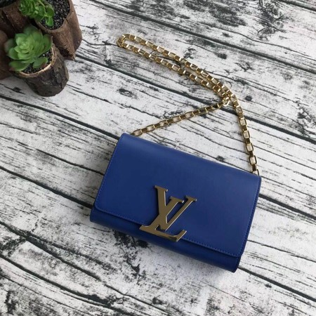 Louis Vuitton CHAIN LOUISE Original leather Shoulder Bag M94335 blue