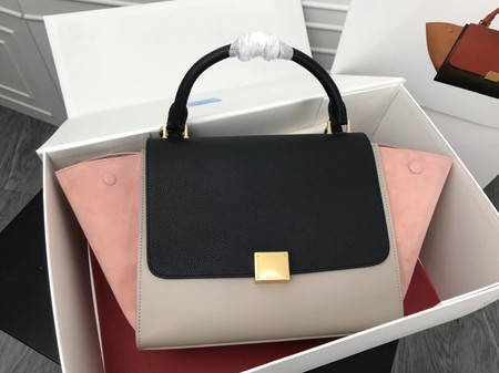 Celine Trapeze Bag Original Leather 3342 Pink black grey