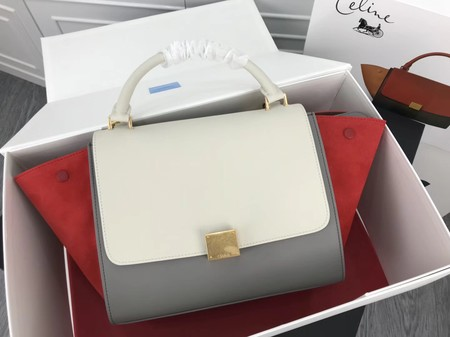 Celine Trapeze Bag Original Leather 3342 grey Red white