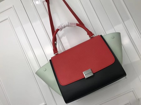 Celine Trapeze Bag Original Leather 3342 Red grey black