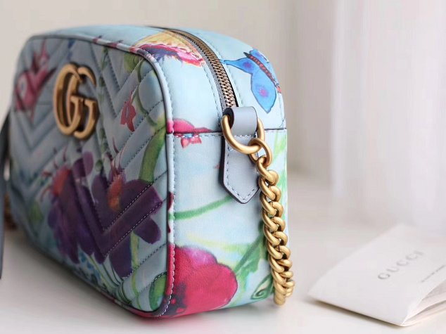 Gucci GG  calfskin unskilled worker marmont shoulder bag 447632