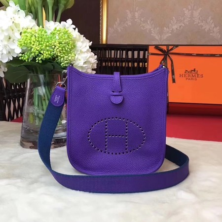 Hermes Evelyne original togo leather mini Shoulder Bag H1187 violet