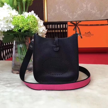 Hermes Evelyne original togo leather mini Shoulder Bag H1187 black