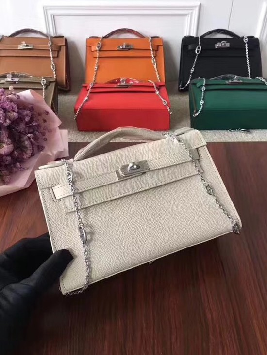 Hermes Mini Kelly Tote Bag Epsom leather 1707 cream