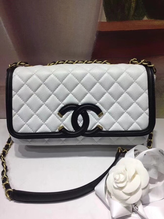 CHANEL Original Clutch with Chain A85533 white