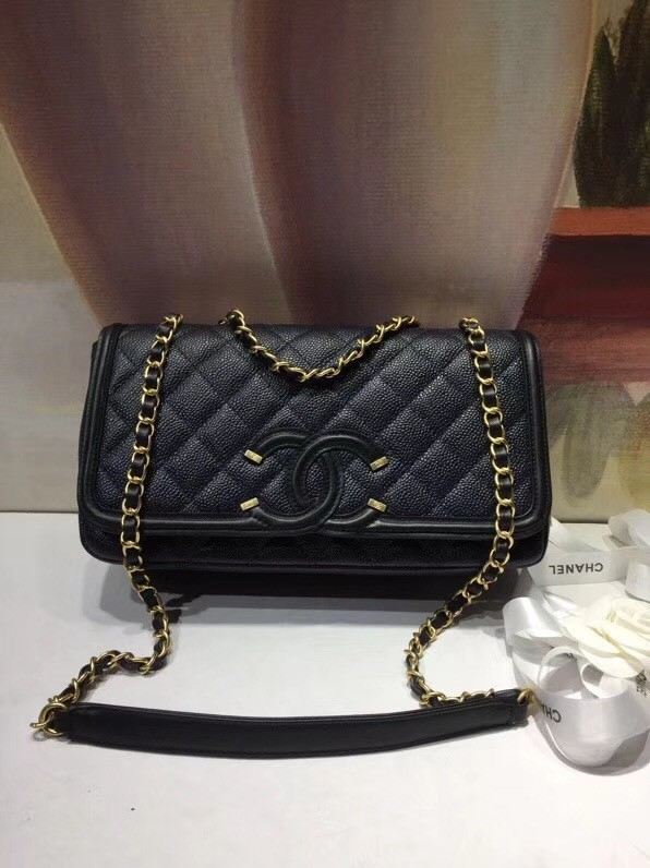 CHANEL Clutch with Chain A85533 black