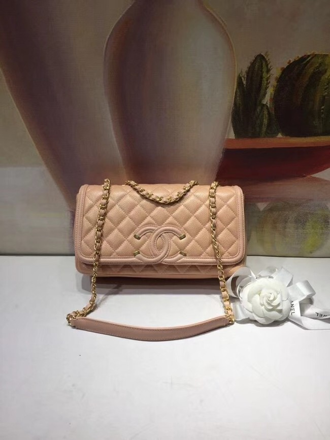 CHANEL Original Clutch with Chain A85533 apricot