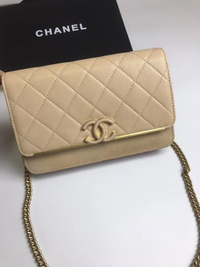 Chanel Wallet on Chain Original A70641 apricot