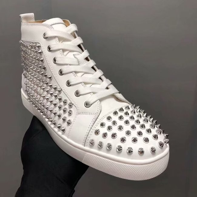CHRISTIAN LOUBOUTIN Pik Boat glitter leather sneakers CL1033