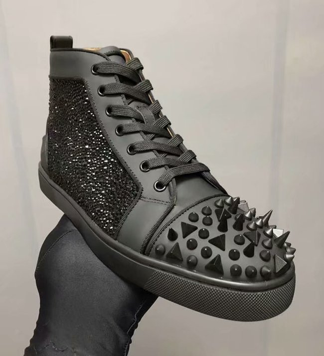 CHRISTIAN LOUBOUTIN Pik Boat glitter leather sneakers CL1034