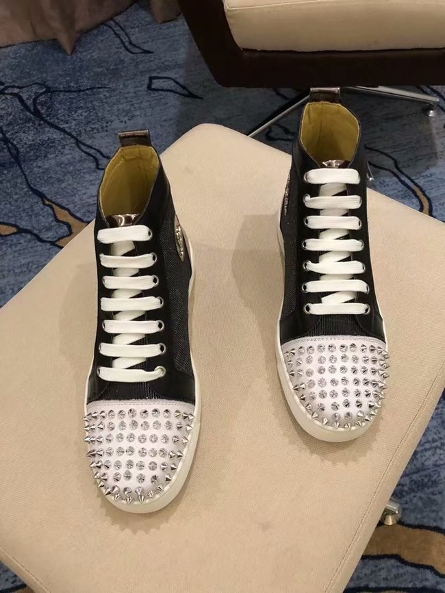 CHRISTIAN LOUBOUTIN Pik Boat glitter leather sneakers CL1043