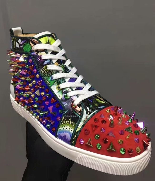 CHRISTIAN LOUBOUTIN Pik Boat glitter leather sneakers CL1036
