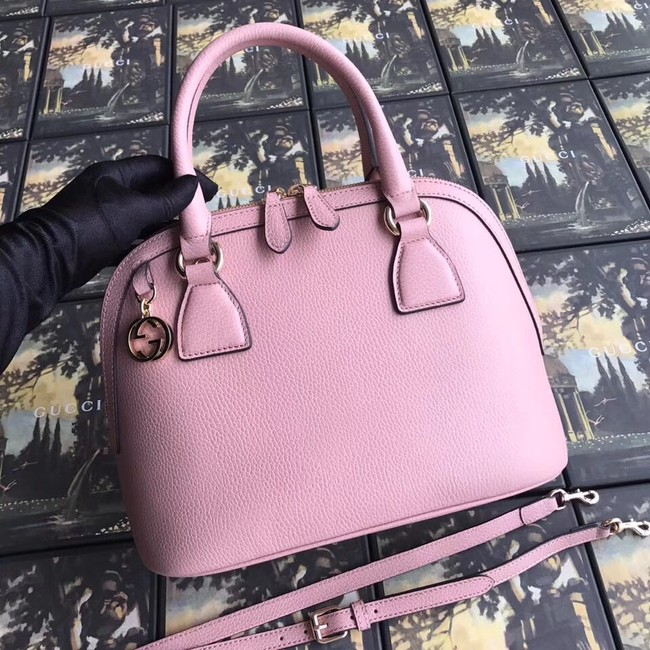 Gucci GG Leather Tote Bag 449662 pink