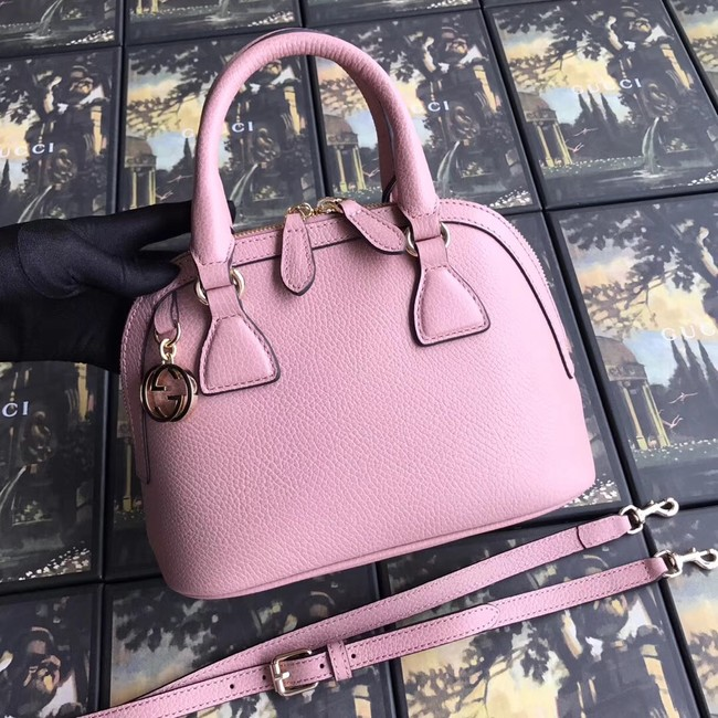 Gucci GG Leather Tote Bag 449661 pink