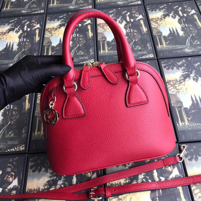 Gucci GG Leather Tote Bag 449661 red