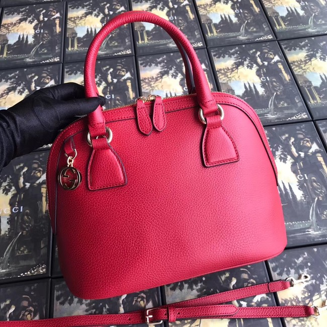Gucci GG Leather Tote Bag 449662 red