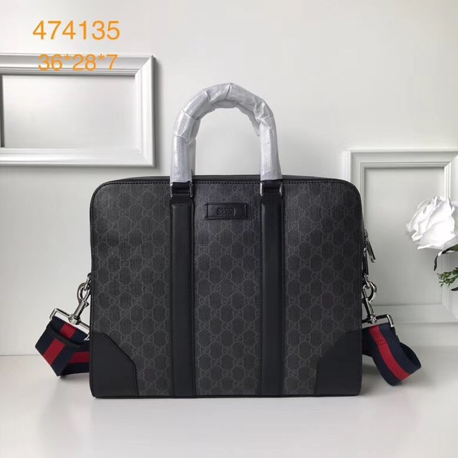 Gucci GG canvas top quality tote bag 387102 black