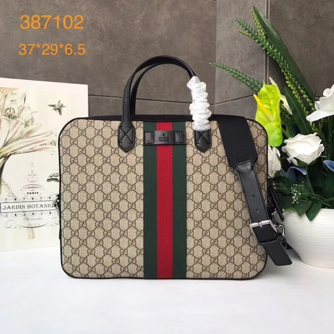 Gucci GG canvas top quality tote bag 387102 brown