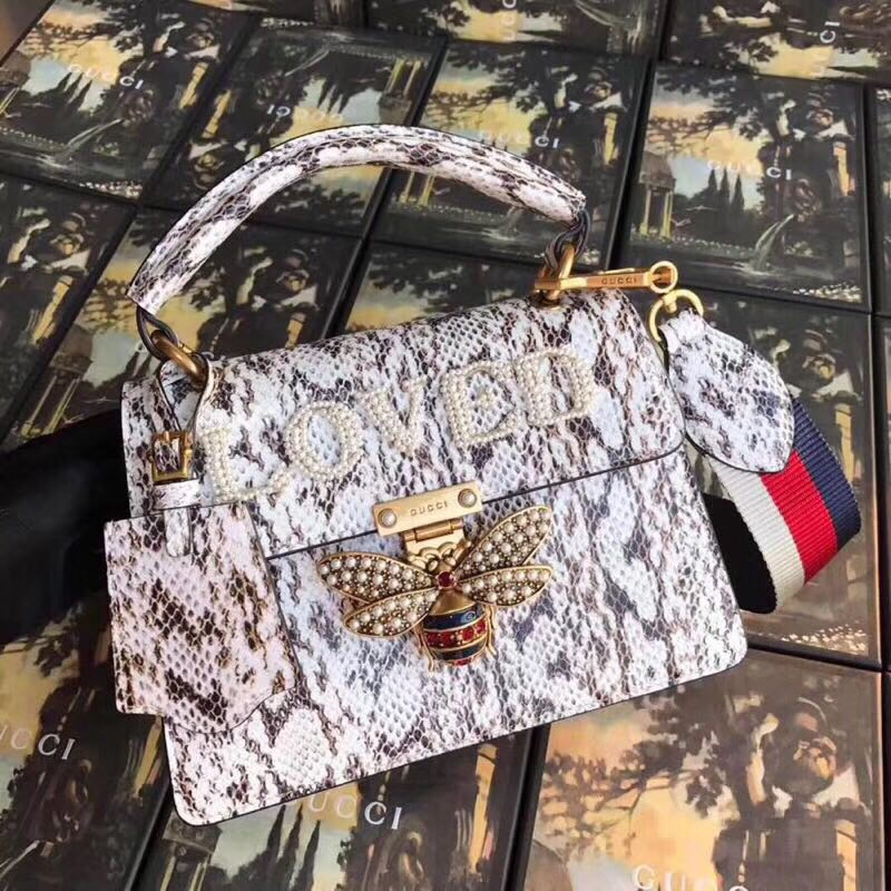 Gucci Queen Margaret GG small top handle bag 476541 grey