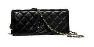 CHANEL Clutch Lambskin & Gold-Tone Metal A94575  Black