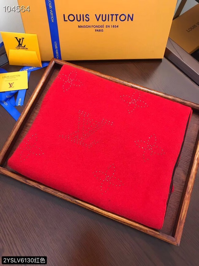 Louis vuitton Cashmere scarf LV6130 red