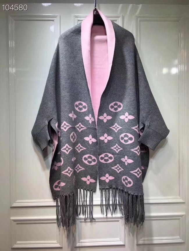 Louis vuitton lambswool & cashmere Shawl 71150 grey