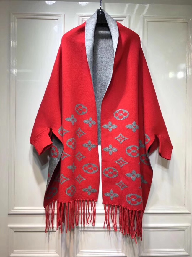 Louis vuitton lambswool & cashmere Shawl 71150 red