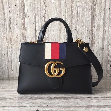 Gucci GG Marmont Small Top Handle Bag 476472 Black