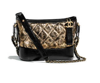 chanel gabrielle small hobo bag A91810 Black & Gold