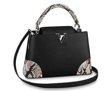 Louis Vuitton CAPUCINES PM N94410 black