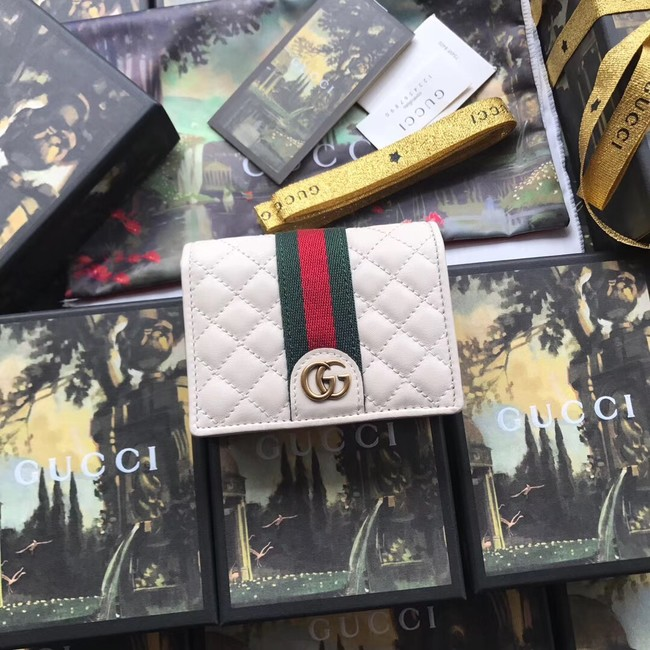 Gucci Leather card case with Double G 536453 white