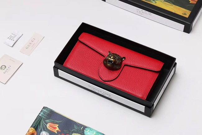 Gucci Calf leather Wallet 414985 red