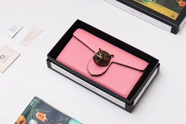 Gucci Calf leather Wallet 414985 pink
