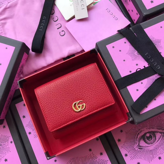 Gucci GG Marmont card case 474746 red