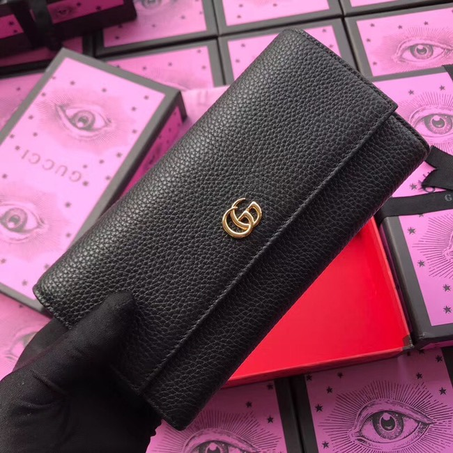 Gucci GG Marmont leather wallet 456116 black