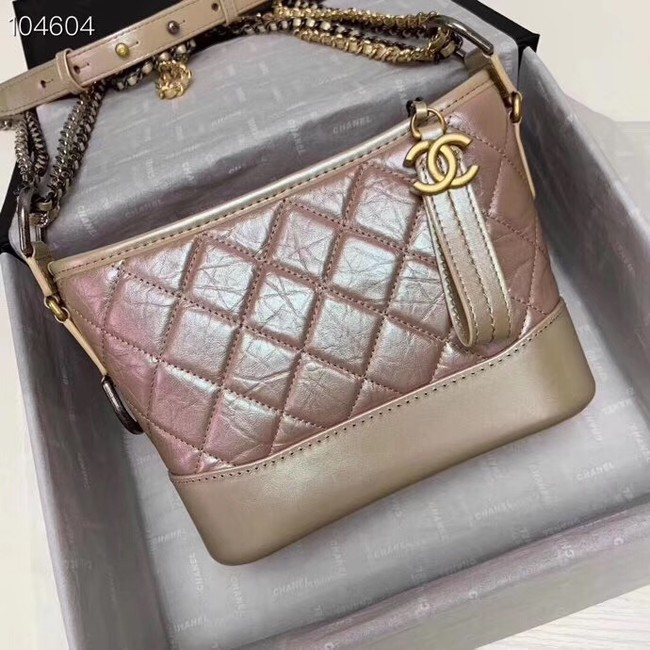 Chanel gabrielle small hobo bag A91810 dark pink