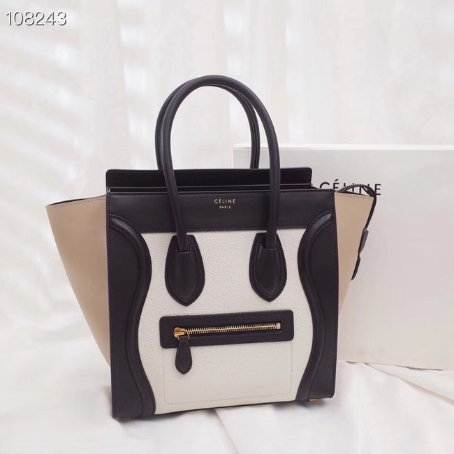 Celine Luggage Boston Tote Bags All Calfskin Leather C0189-2