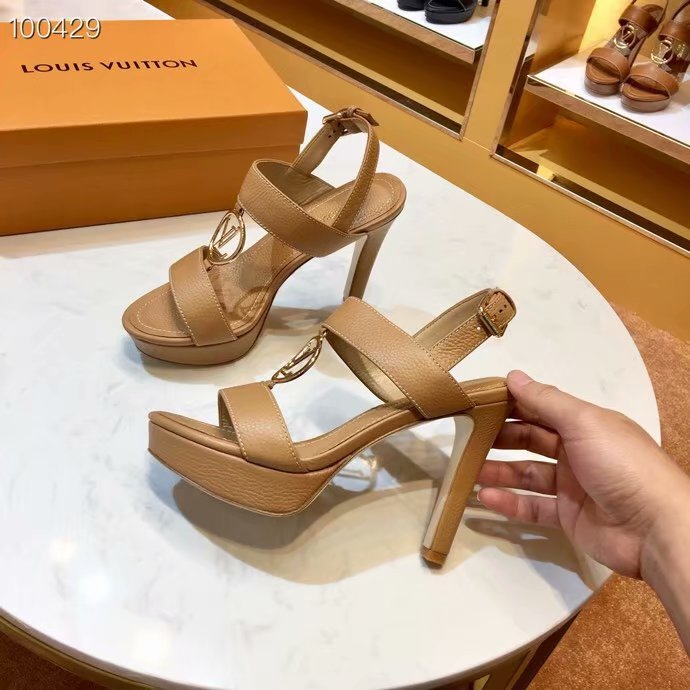 Louis Vuitton lady leather Sandals LV955SY-5 10CM height