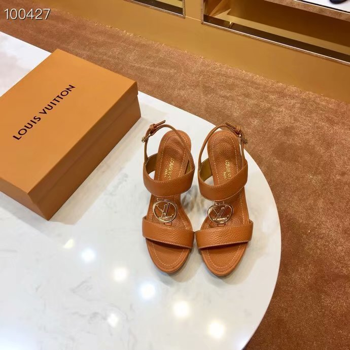 Louis Vuitton lady leather Sandals LV955SY-7 10CM height