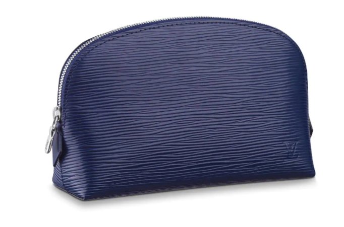 Louis vuitton original Epi Leather COSMETIC POUCH PM M52030 Indigo