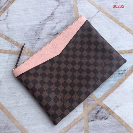 Louis vuitton original Damier Ebene Canvas DAILY M60262 pink