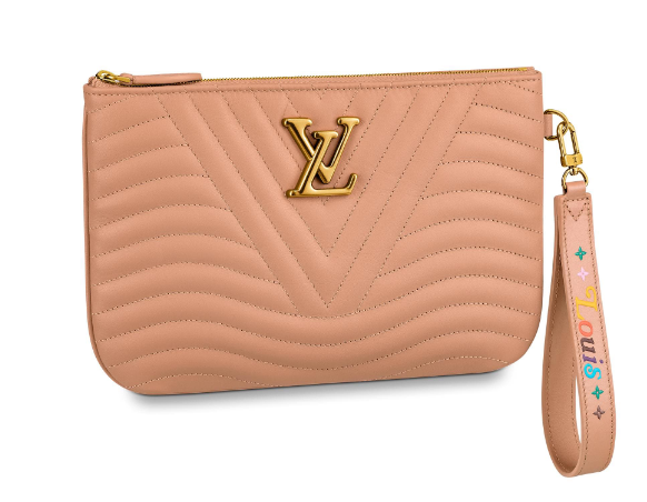 Louis Vuitton NEW WAVE Zipper Clutch bag M67500 Noisette