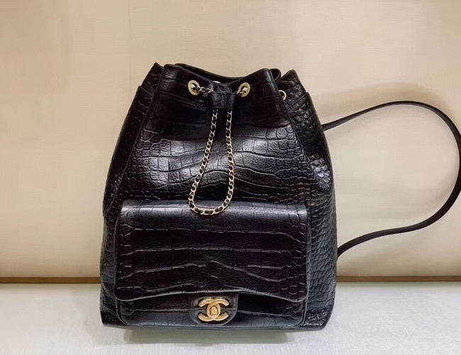 Chanel Original Leather Backpack AS0800 Black