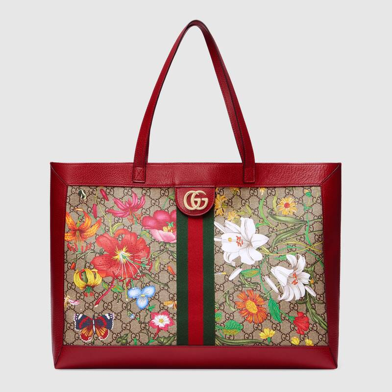 Gucci Ophidia series GG flower medium shopping bag 547947 red