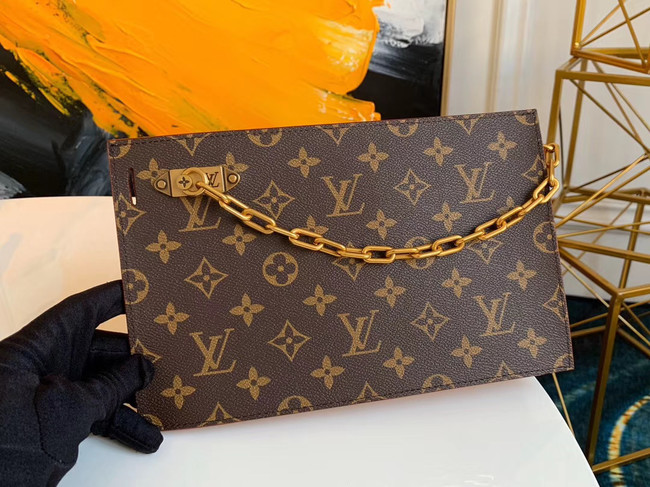Louis Vuitton Original Monogram Canvas Zipper Clutch bag M44388