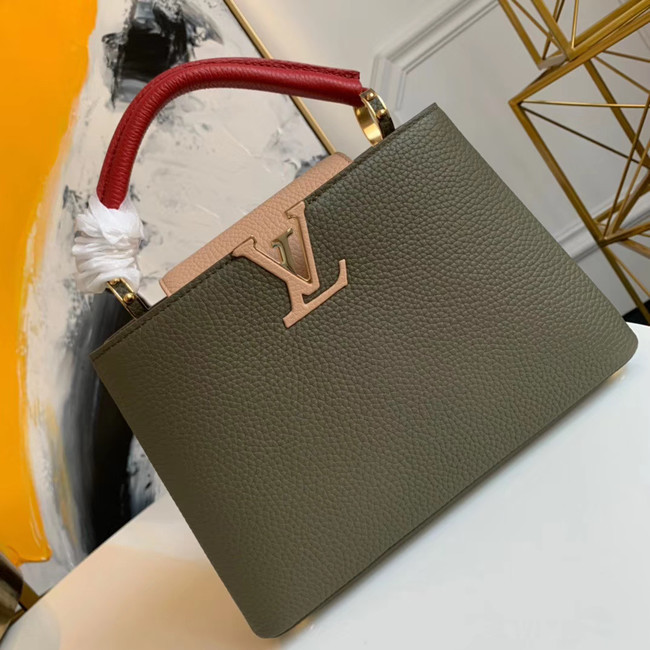 Louis vuitton CAPUCINES BB M55359 green