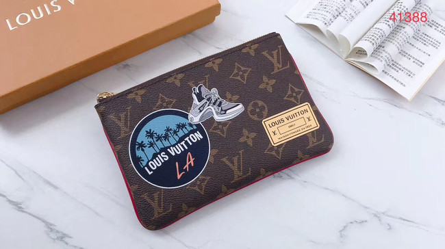 Louis Vuitton Original Monogram Canvas Zipper Clutch bag M41388
